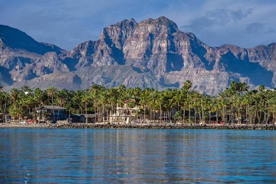 Loreto coast panorama Baja California desert colorful landscape view