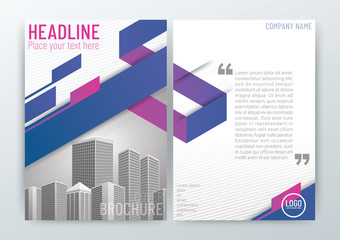 A4 Size Front and back cover, Abstract modern Background, Creative Design, Business Brochure, Template Flyer Layout, Annual Report-Vector Illustration