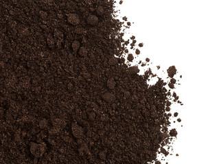 Fototapeta Soil or dirt crop isolated on white obraz