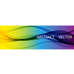 Abstract colourful wave isolated on white background. Vector illustration for modern business design. Futuristic wallpaper.