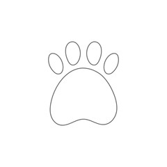 Paw print outline. Veterinary clinic logo. Vector icon.