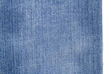 Piece of light blue jeans fabric