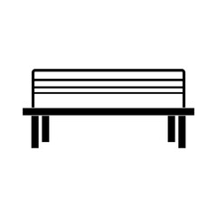 park bench icon over white background, vector illustration
