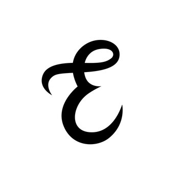 Elegante custom ampersand on white background. Handwritten calligraphy. Isolated. Vector illustration. Great for wedding invitations, greeting cards, posters, placards