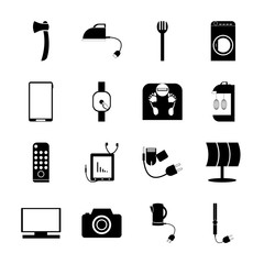 icon Technology with plugging, service, work tool, household and machinery
