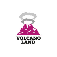 The logo of the volcano emits smoke rings