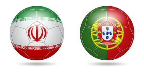 Football. 2018. Iran, Portugal