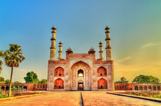 South Gate of Sikandra Fort in Agra - Uttar Pradesh, India