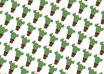Cactus pattern for designer and wallpaper, Printed Fabric