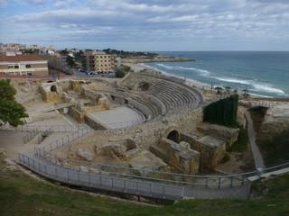 Teatro romano de Tarragona, ciudad de Cataluña en España
