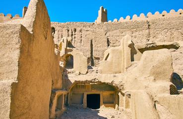 In ruins of ancient house, Rayen, Iran