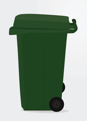 Green waste bin. vector illustration