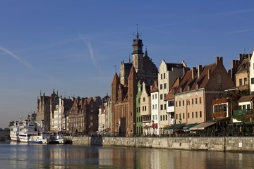 Gdansk old town at dawn