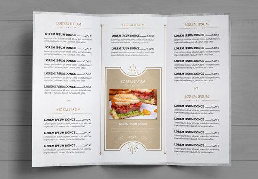 Ensemble de menus de restaurant marbrés