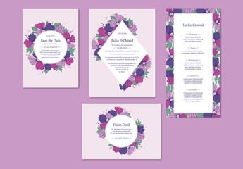 Romantisches Hochzeitskartenset