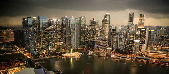 Singapore from the top of Marina Bay Sands
