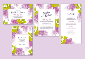 Blumiges Hochzeitskartenset