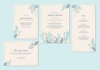 Modernes Hochzeitskartenset