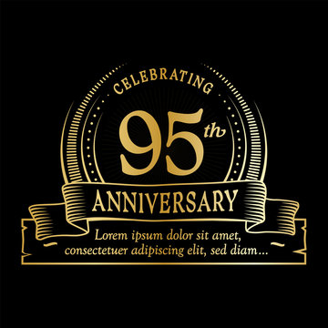95th anniversary design template. Vector and illustration.