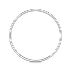 3D rendering Metal ring isolated on white background