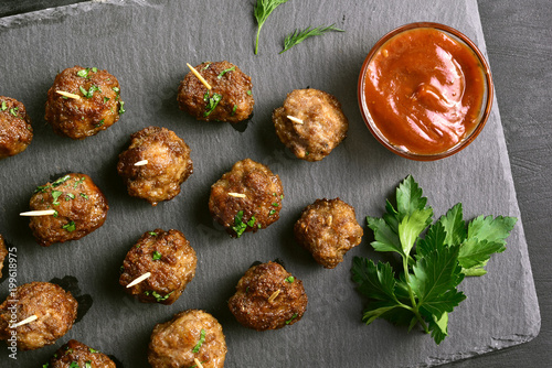 Meatballs with tomato sauce stock photo and royalty free for Voltan tortellini