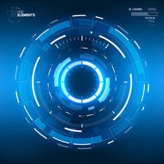 Futuristic Sci-Fi HUD Circle Element. Abstract Creative Design Background. Virtual Reality
