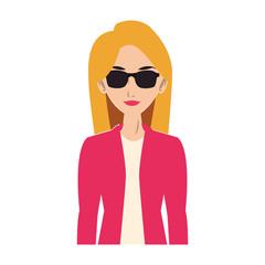 Young woman cartoon vector illustration graphic design