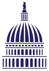 U.S. Capitol Dome Vector Illustration