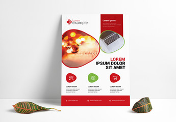 Flyer Layout with Red Footer