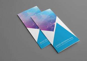 Business Brochure Layout with Triangular Design Elements