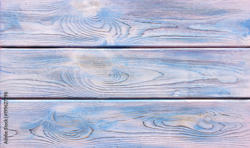 Painted Blue Colored Wood Background