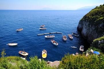 南イタリア、カプリ島の風景