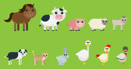 Rounded Farm Animals Set