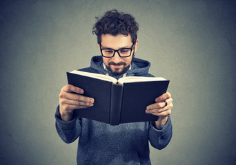 hipster man reading a book