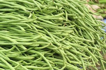 Long beans at market