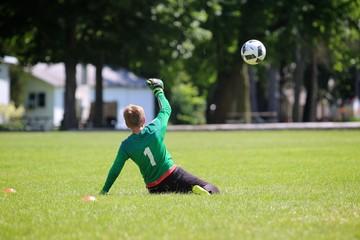 sliding soccer save