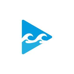 Video Ocean Logo Icon Design