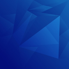 blue low polygon and geometric background in vintage and retro style