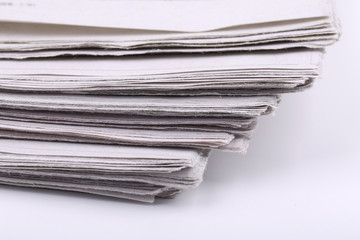 Close-up Shot Of Newspaper