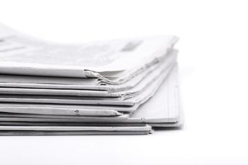 Close-up Shot Of Newspaper