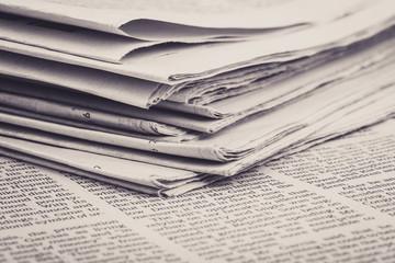 Newspaper On The Desk