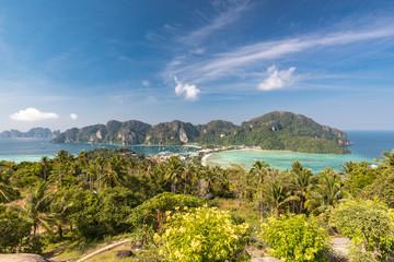 Phi-Phi island View tropical island with resorts - Krabi Province thailand