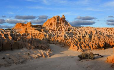 Sunlight across the outback desert