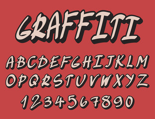 The graffiti modern font