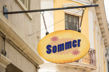 Schild 278 - Sommer