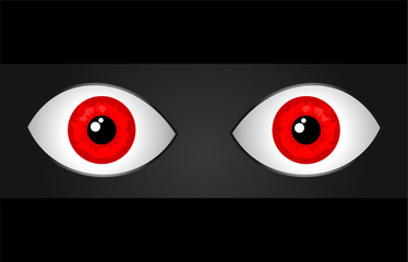 two red eyes