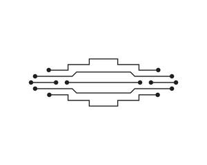 Circuit illustration design vector symbol logo technology