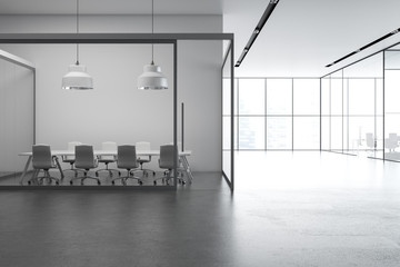 Loft office interior, gray