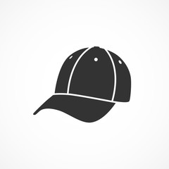 Vector image of a baseball cap icon.