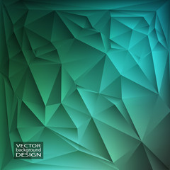Colorful geometric background with triangles.